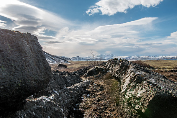 BROKEN TECTONIC PLATE, ICELAND