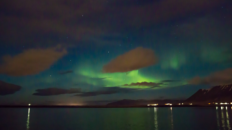 NORTHEN LIGHTS BY BOAT