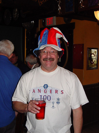 Chris after the Rangers win, May 25, 2003.