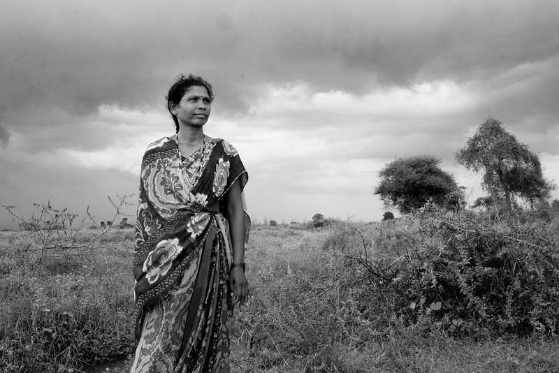 Savita near the fields where she works on daily wages. Every year monsoon brings a hope for these women.