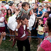 Two-year old, Gianluca Gentile is very much involved in almost all aspects of the circus life and enjoys performing for the public as in this case, dancing with his father, Carlo, to the music of a tarantella in front of circus goers before the last show in Decatur, Ala. Saturday, April 25, 2009.