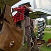 Joe Guy gets ready for a new leg in his trip at the Tuscaloosa Riding Club Saturday, June 6, 2009. All the possessions he carries can be seen in the picture.