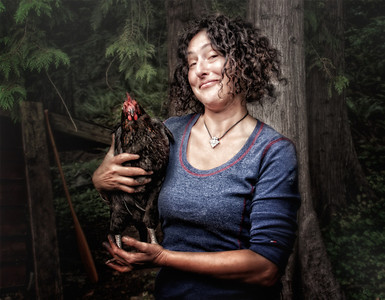 Margot and Her Chicken