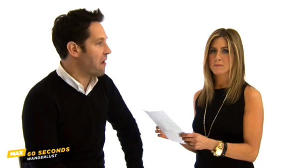 60 Seconds Cinemax Paul Rudd and Jennifer Aniston Promo for Wanderlust