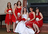 bride and bridesmaids-fireplace