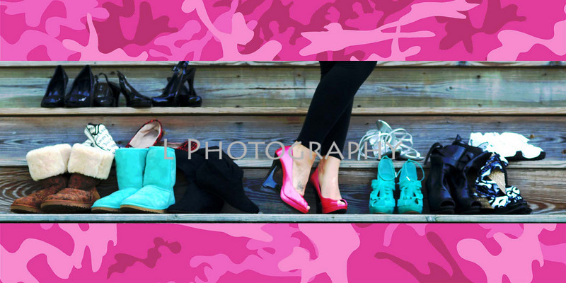 pink camo and shoes