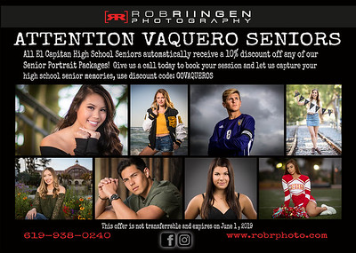 RRP DISCOUNT EL CAP SENIOR SESSION