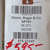 GILDA'S RUGER STAINLESS STEEL SP101 .38 SPECIAL