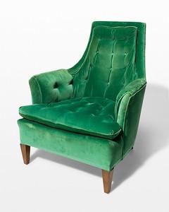 Penny Green Velvet Armchair