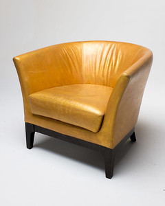 CH051 Gold Hue Leather Chair