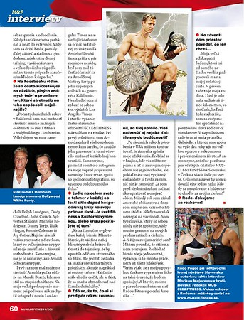 Muscle & fittness czech and slovakia Issiue