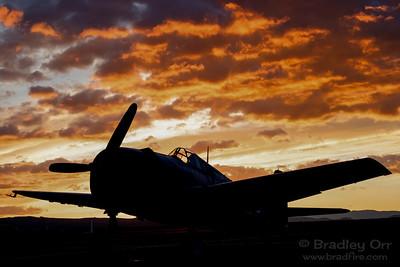 CAF SoCal F6F Hellcat at sunrise on Saturday ...