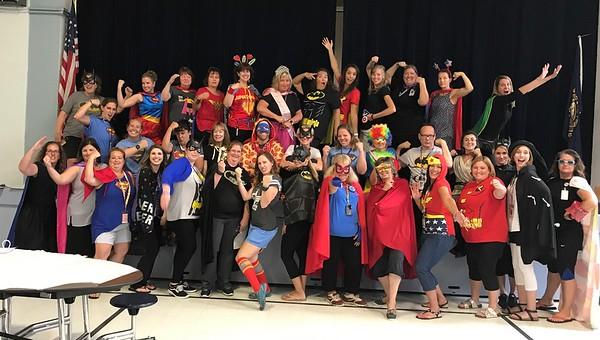 "20170925  Pollard Staff ""Secret Superhero Day"""