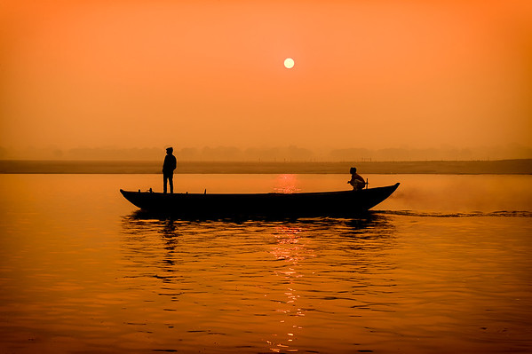 Sunrise In Varanasi  - PSA Score 13 - Honorable Mention