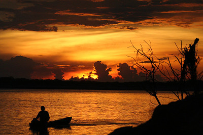 Bob Boal - Sunset on the Amazon