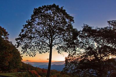 Jean Peterson - October Sunrise on the Blue Ridge Parkway