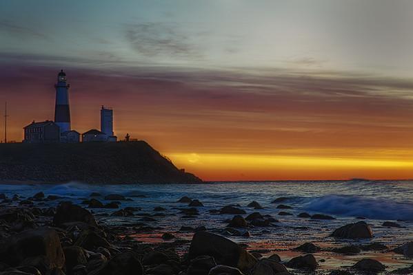 12 Montauk Point At Dawn