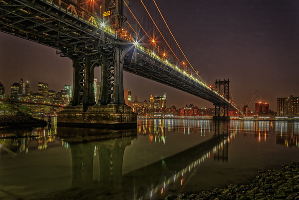 Manhattan Bridge at Dawn-Gary Emord PSA Score 9