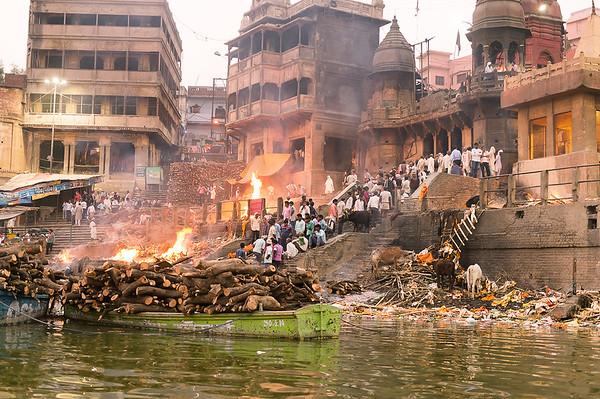 The funeral pier in Varanasi-Muraleedharan Raghavan