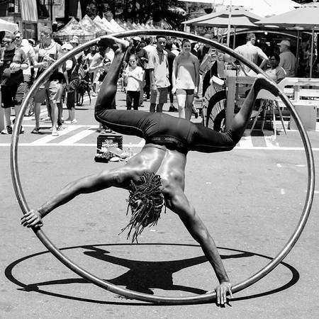 Man in a Wheel - Chuck Pike - PSA Score 10