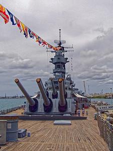 3.  Big Guns of USS Missouri
