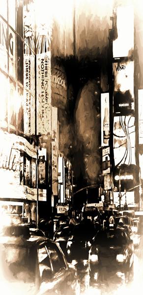 8. Rainy Night Times Square