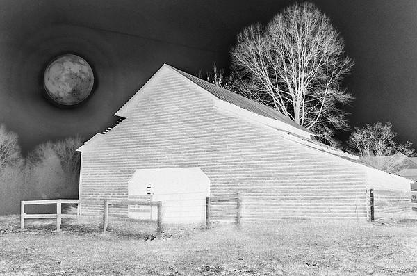 Night time Barn by Chris Boyd