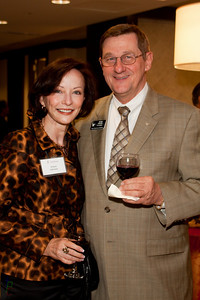 Peter Krause and Arlene Johnson at the Reception