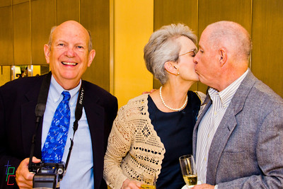 Denise Kissing Bill and Keith!