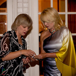 Debbie and Pamela  discussing the drawing strategy