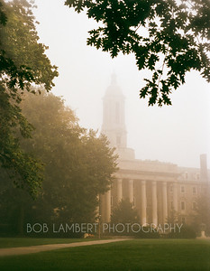 Old Main in the Fog