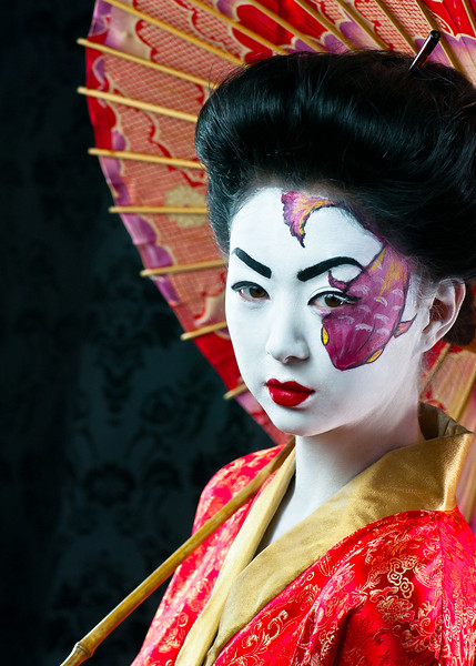 """Geisha""<br /> Model: Andrea Wong<br /> Makeup by: Candace Corey<br /> <br /> Photo by Jon Cassill using Westcott<br /> Products<br /> <a href=""http://www.fjwestcott.com"">http://www.fjwestcott.com</a><br /> <br /> ©2011 all rights reserved"