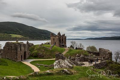 Urquhart Castle at Loch Ness, Drumnadrochit, Scotland 5-2018