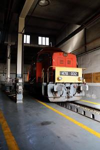 478 032 (98 55 0478 032-3 H-START) at Nyiregyhaza Depot on 1st May 2017 (2)