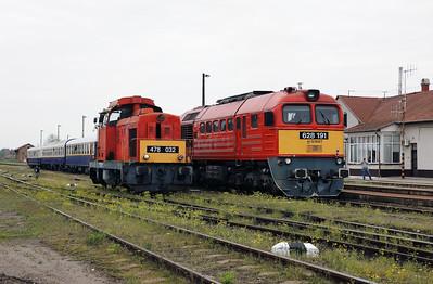 478 032 & 628 191 at Nyirbator on 1st May 2017 working PTG Railtour (4)