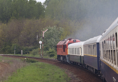 628 191 (92 55 0628 191-2 H-START) between Nyirgelse & Nyradony on 1st May 2017 working PTG Railtour (19)