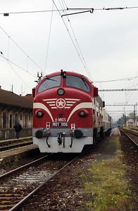 M61 006 (92 55 0618 006-4 H-MNOS) at Komarno (Slovakia) on 27th April 2017 working PTG Railtour (4)