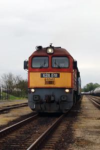 628 518 (92 55 0628 518-6 H-START) in Yard near Tiszabezded on 30th April 2017 working PTG Railtour (7)