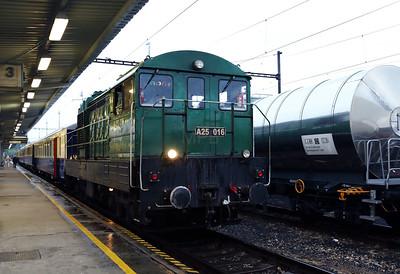 A25 016 (98 55 0449 316-6 H-MNOS) at Sturovo on 27th April 2017 working PTG Railtour (12)