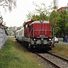 449 016 (98 55 0449 016-2) alongside Berlini Ucta Road (Budapest Angyalfold) on 27th April 2017 working PTG Railtour (13)