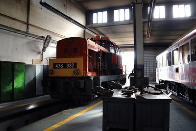478 032 (98 55 0478 032-3 H-START) at Nyiregyhaza Depot on 1st May 2017 (4)