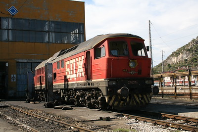 07 037 at Plovdiv Depot on 6th October 2008