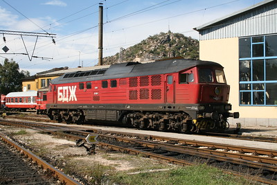 07 020 at Plovdiv Depot on 6th October 2008
