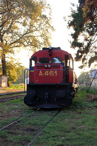 A461 at Edessa on 18th September 2014 working Railtour (1)