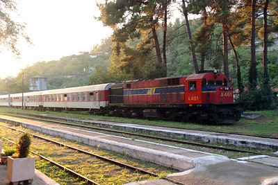 A461 at Edessa on 18th September 2014 working Railtour (7)