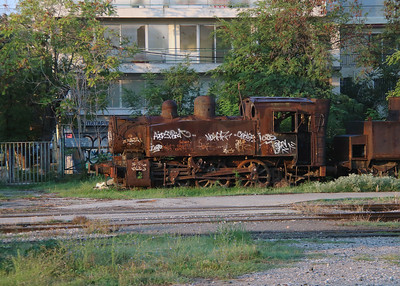 unknown steam at Thessaloniki Depot on 19th September 2014