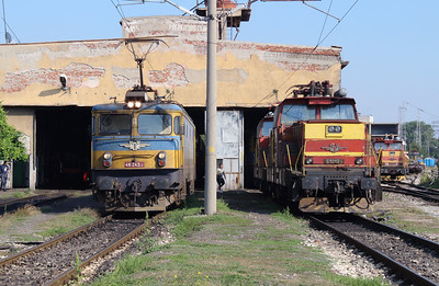46 243 & 61012 at Sofia Depot on 13th September 2014 (2)