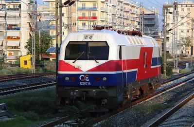 120 014 at Thessaloniki Depot on 19th September 2014 (1)