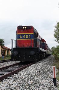 A461 at Neos Kaukasos on 18th September 2014 working Railtour (6)