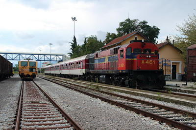 A461 at Aminteo on 18th September 2014 working Railtour (3)